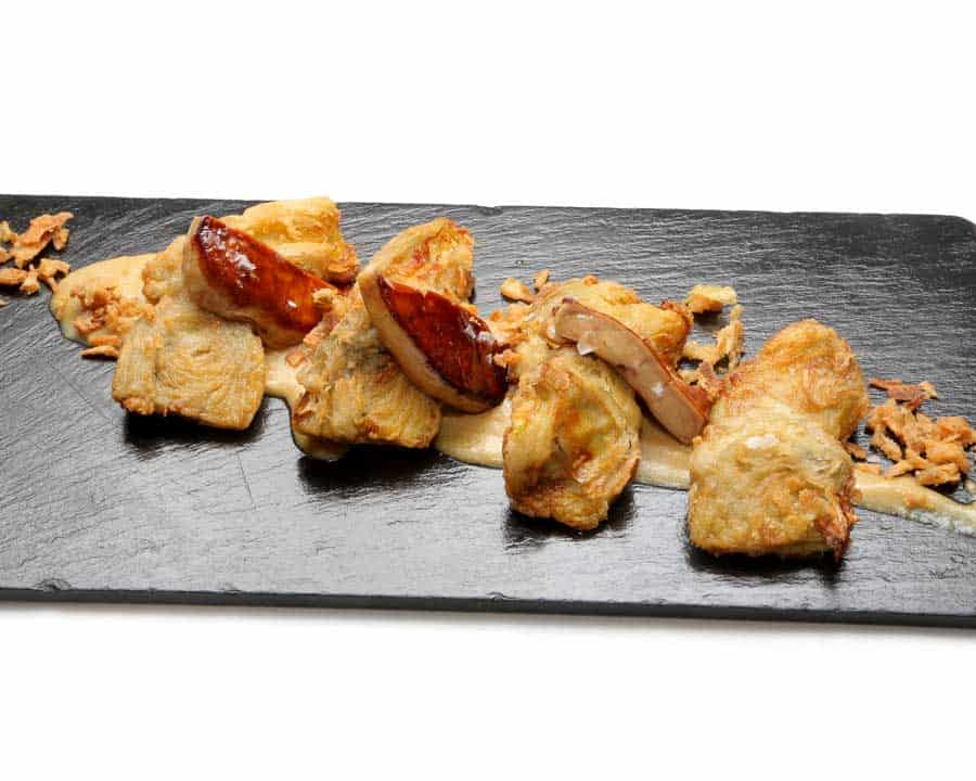 Carta Restaurante Castillo Bonavia. Alcochafas con Foie