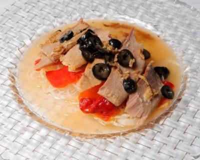 Carta Restaurante Castillo Bonavia_Zaragoza. Ensalada de ventresca