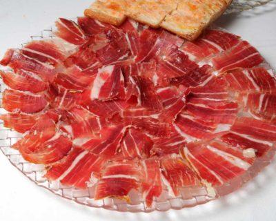 Carta Restaurante Castillo Bonavia_Zaragoza. Jamón