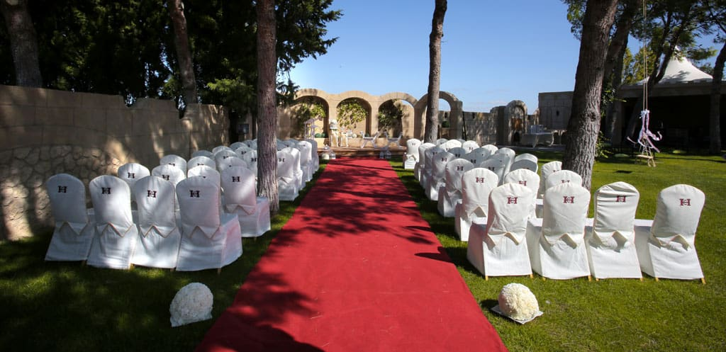 Finca de bodas Arcos. Boda civil_Hotel Castillo Bonavia-Zaragoza