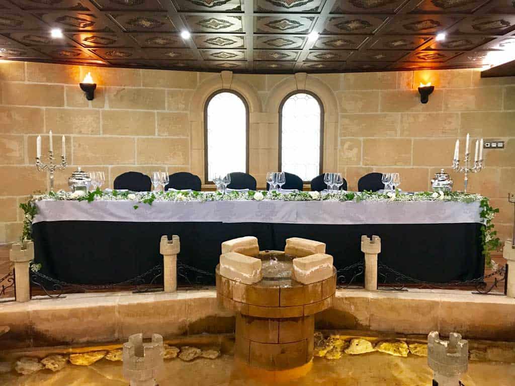 Salón de bodas los Arcos-Presidencia-Castillo Bonavia