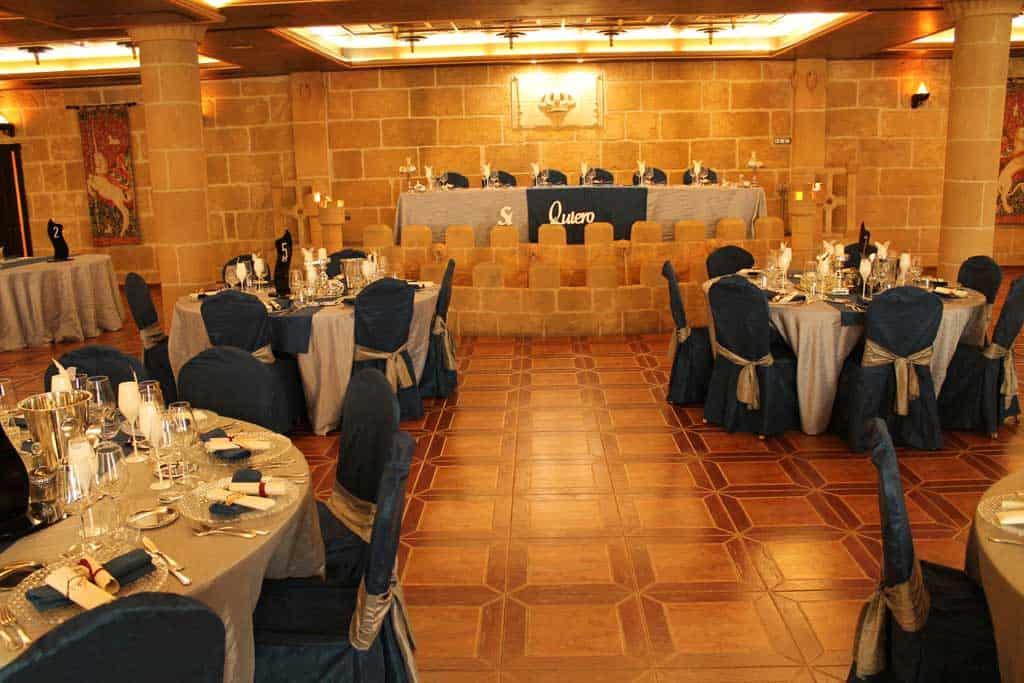 Salon de bodas Don Quijote. Hotel Castillo Bonavia