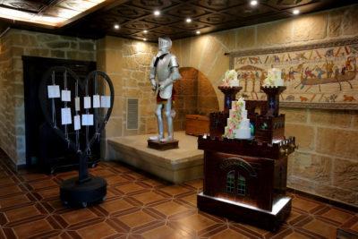 Decoracion salon bodas Arcos. Hotel Castillo Bonavia_Zaragoza
