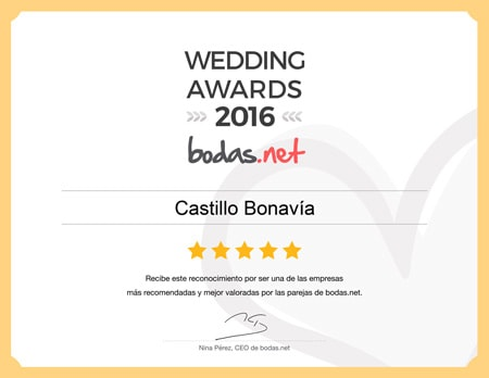 Castillo Bonavía, ganador Wedding Awards 2016 Bodas.net