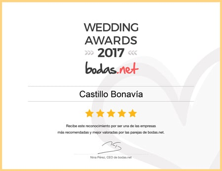 Castillo Bonavía, ganador Wedding Awards 2017 Bodas.net