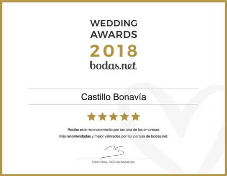 Castillo Bonavía, ganador Wedding Awards 2018 Bodas.net