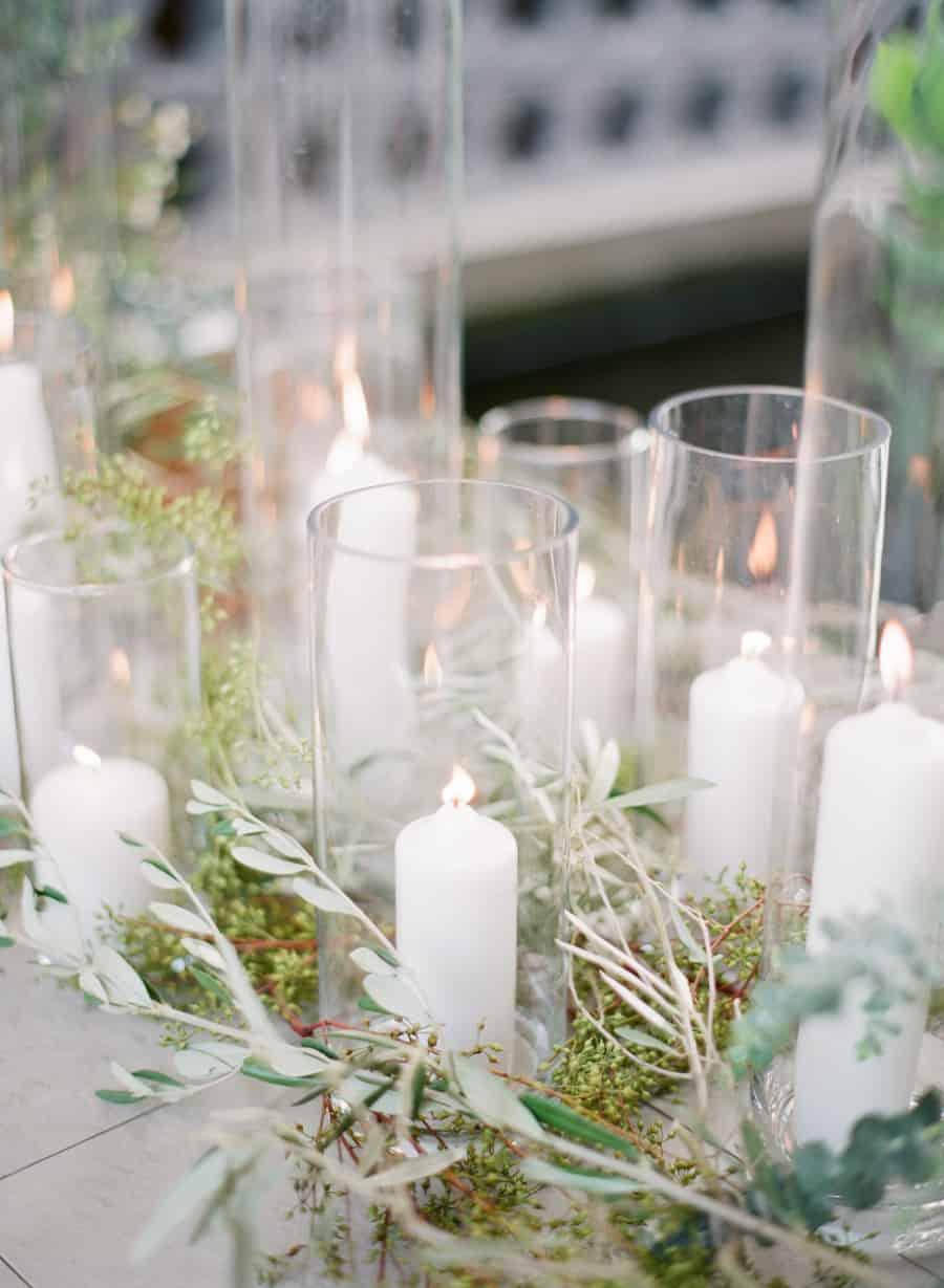 decorar bodas con velas altas-6