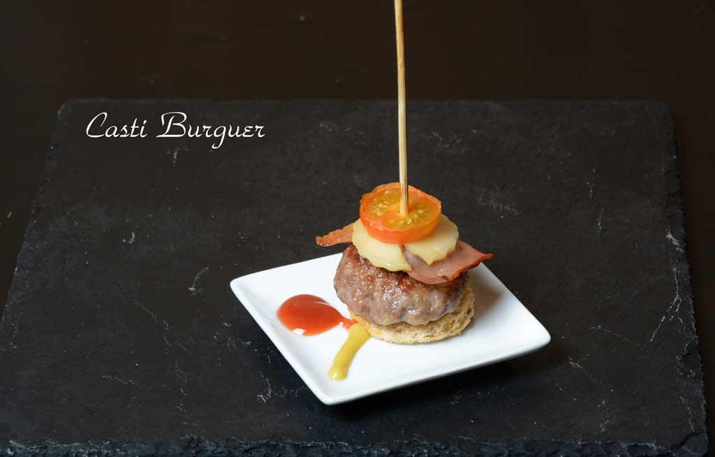 Aperitivos de boda. Casti Burger