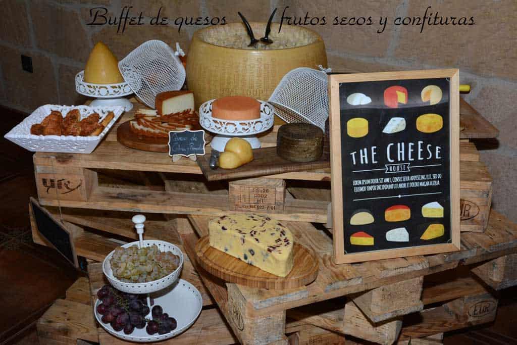 Rincón gourmet. Buffet de quesos