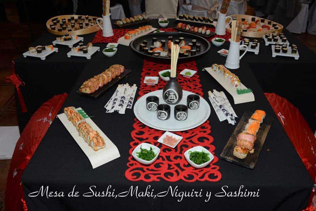 Rincón gourmet. Buffet de sushi, maki, sashimi