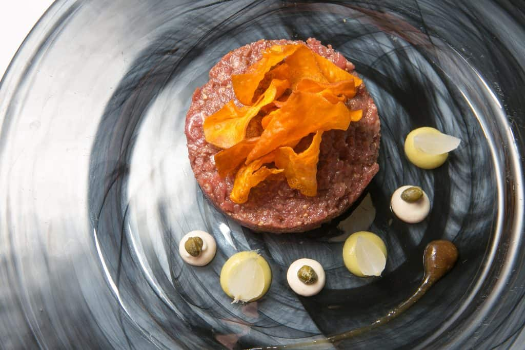 Carta Restaurante. Steak tartar