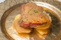 Carta Restaurante. Ternasco asado con patatas