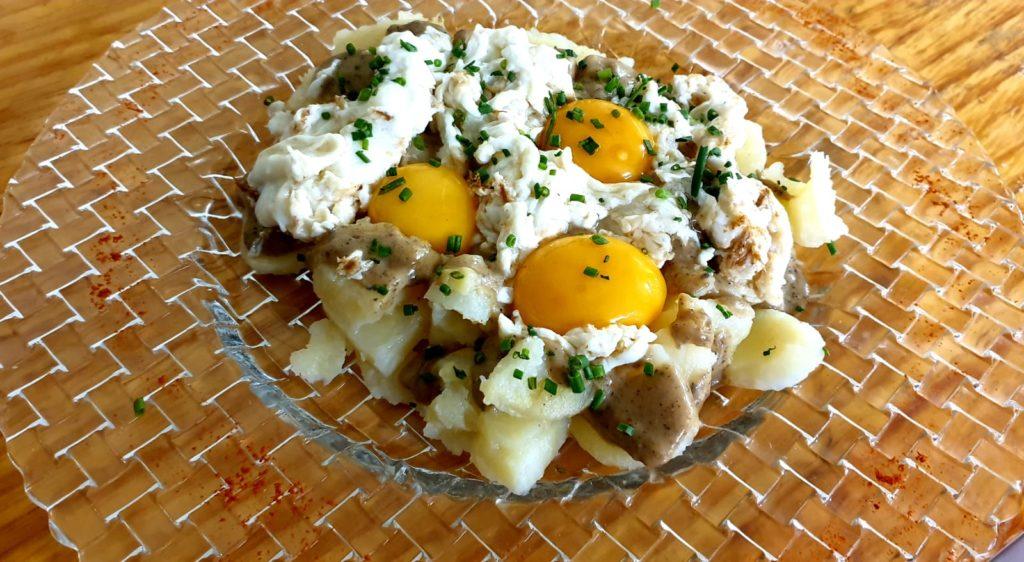 Huevos rotos a la tartufata_Carta Castillo Bonavia
