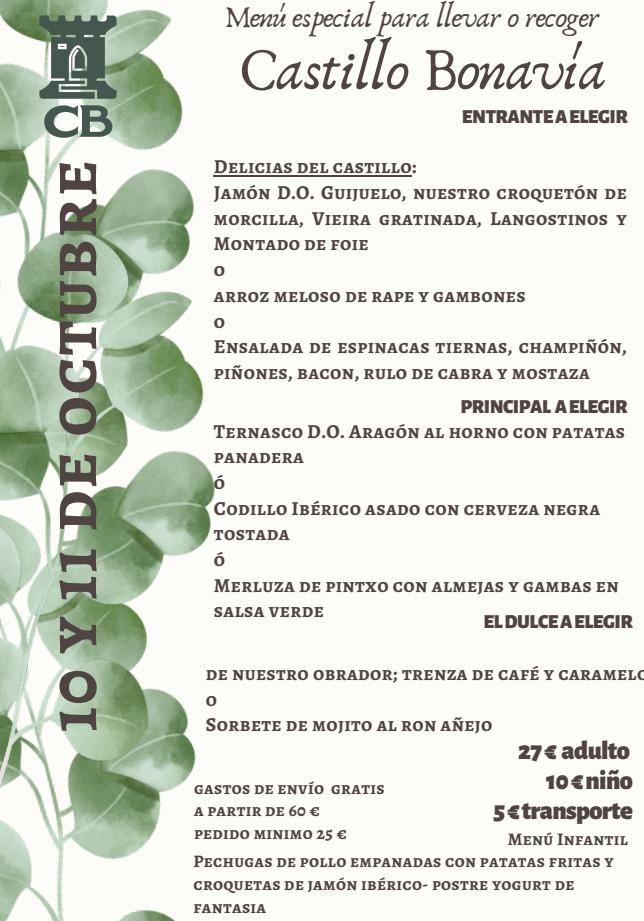 menus 10 -11 de octubre
