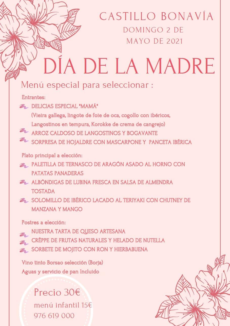 Dia de la madre-2021-Menú Castillo Bonavia