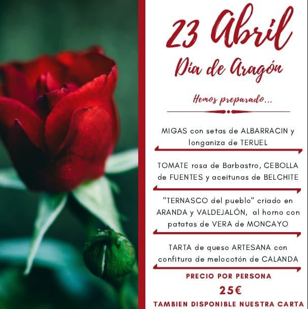 Celebra el 23 Abril-Día de Aragón en Castillo Bonavía
